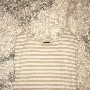 The Limited Tops - 🐰Gold & White stripe The Limited tank top